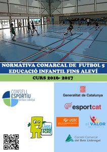 01- Portada Futbol 5 Educació Infantil fins Aleví 16-17