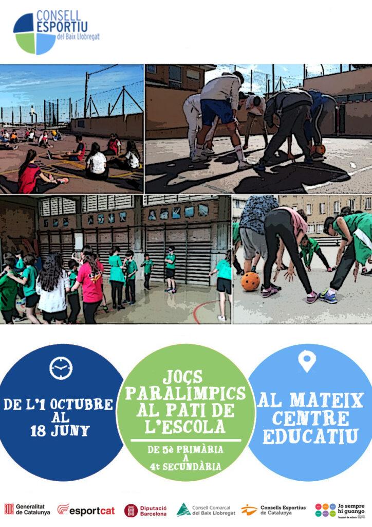 Cartell Jocs Paralímpics Pati de l'Escola